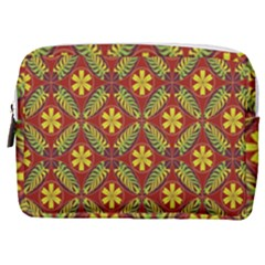 Abstract Floral Pattern Background Make Up Pouch (medium)