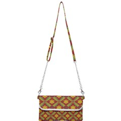 Abstract Floral Pattern Background Mini Crossbody Handbag
