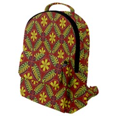 Abstract Floral Pattern Background Flap Pocket Backpack (small)