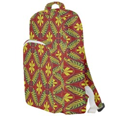 Abstract Floral Pattern Background Double Compartment Backpack