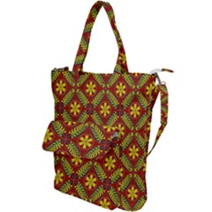 Abstract Floral Pattern Background Shoulder Tote Bag