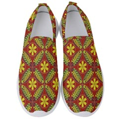 Abstract Floral Pattern Background Men s Slip On Sneakers