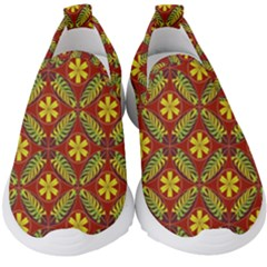 Abstract Floral Pattern Background Kids  Slip On Sneakers