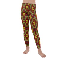 Abstract Floral Pattern Background Kids  Lightweight Velour Leggings