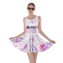 Colorful Butterfly Purple Skater Dress
