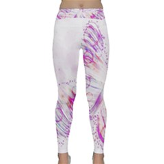 Colorful Butterfly Purple Classic Yoga Leggings
