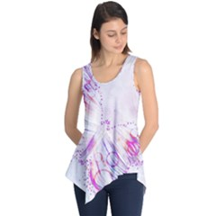 Colorful Butterfly Purple Sleeveless Tunic by Mariart