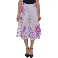 Colorful Butterfly Purple Perfect Length Midi Skirt