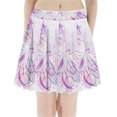 Colorful Butterfly Purple Pleated Mini Skirt