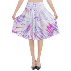 Colorful Butterfly Purple Flared Midi Skirt by Mariart