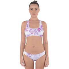 Colorful Butterfly Purple Cross Back Hipster Bikini Set by Mariart
