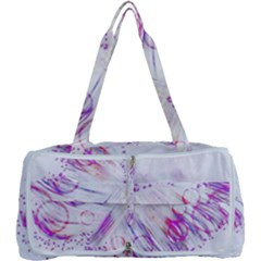 Colorful Butterfly Purple Multi Function Bag