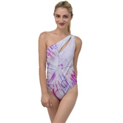 Colorful Butterfly Purple To One Side Swimsuit
