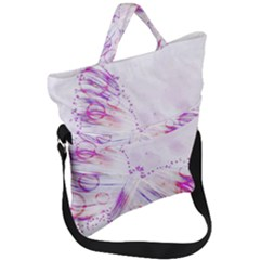 Colorful Butterfly Purple Fold Over Handle Tote Bag by Mariart