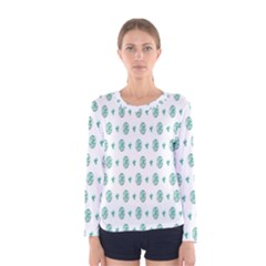 Pattern Background Women s Long Sleeve Tee