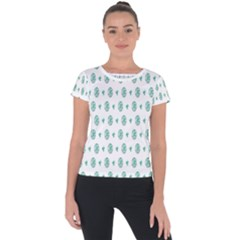 Pattern Background Short Sleeve Sports Top