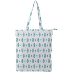 Pattern Background Double Zip Up Tote Bag