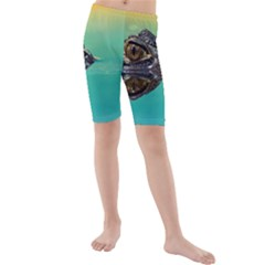 Amphibian Animal Kids  Mid Length Swim Shorts
