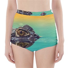 Amphibian Animal High Waisted Bikini Bottoms