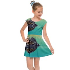 Amphibian Animal Kids Cap Sleeve Dress