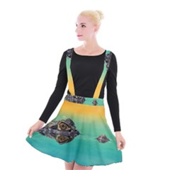 Amphibian Animal Suspender Skater Skirt