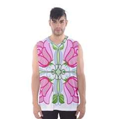 Figure Roses Flowers Ornament Men s Basketball Tank Top