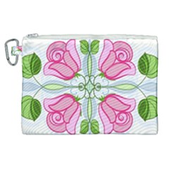 Figure Roses Flowers Ornament Canvas Cosmetic Bag (xl) by Bejoart