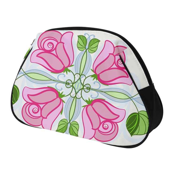 Figure Roses Flowers Ornament Full Print Accessory Pouch (Small)