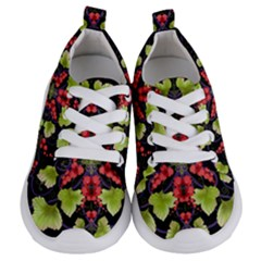 Pattern Berry Red Currant Plant Kids  Lightweight Sports Shoes
