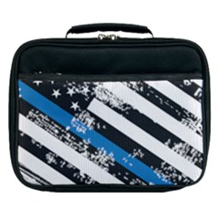Usa Flag The Thin Blue Line I Back The Blue Usa Flag Grunge On White Background Lunch Bag