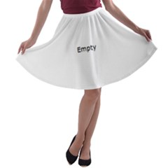 Star Christmas Advent Structure A Line Skater Skirt