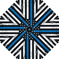I Back The Blue The Thin Blue Line With Grunge Us Flag Golf Umbrellas by snek