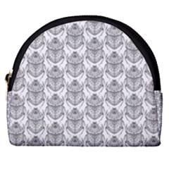 Scarab Pattern Egyptian Mythology Black And White Horseshoe Style Canvas Pouch by genx