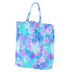 Blue And Hot Pink Succulent Underwater Sedum Giant Grocery Tote by myrubiogarden