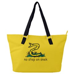 No Step On Snek Gadsden Flag Meme Parody Full Print Shoulder Bag