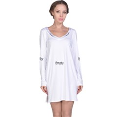 Plants Vines Climbers White Long Sleeve Nightdress