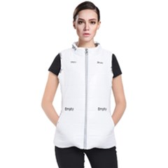 Plants Vines Climbers White Women s Puffer Vest