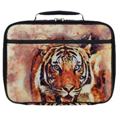 Tiger Portrait Art Abstract Full Print Lunch Bag