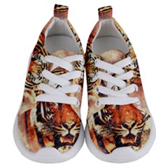Tiger Portrait Art Abstract Kids  Lightweight Sports Shoes