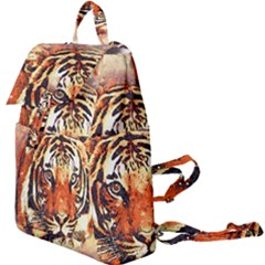 Tiger Portrait Art Abstract Buckle Everyday Backpack