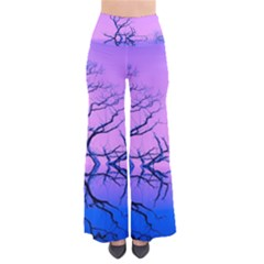Nature Inspiration Trees Blue So Vintage Palazzo Pants