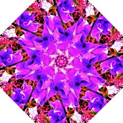 Abstract Ultra Violet Purple Iris On Red And Pink Golf Umbrellas
