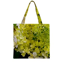 Elegant Chartreuse Green Limelight Hydrangea Macro Grocery Tote Bag by myrubiogarden