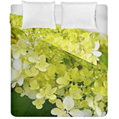 Elegant Chartreuse Green Limelight Hydrangea Macro Duvet Cover Double Side (california King Size) by myrubiogarden