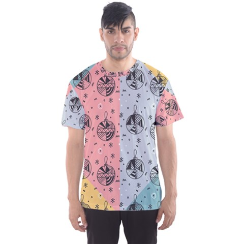 Abstract Christmas Balls Pattern Men s Sports Mesh Tee by Mariart