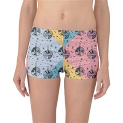 Abstract Christmas Balls Pattern Reversible Boyleg Bikini Bottoms