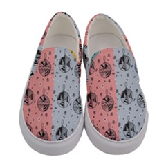 Abstract Christmas Balls Pattern Women s Canvas Slip Ons