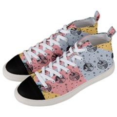 Abstract Christmas Balls Pattern Men s Mid Top Canvas Sneakers by Mariart