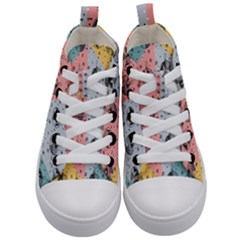 Abstract Christmas Balls Pattern Kid s Mid Top Canvas Sneakers