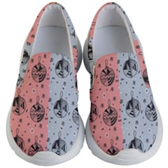 Abstract Christmas Balls Pattern Kid s Lightweight Slip Ons by Mariart